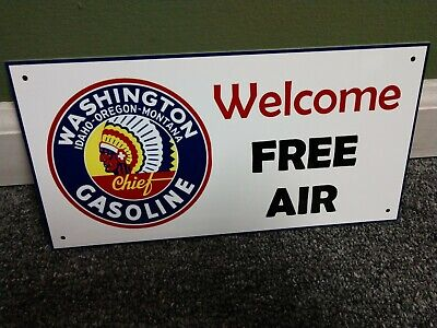Indian Gas Oil gasoline sign ...round....FREE shipping 10 or more signs