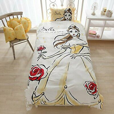 Disney Beauty and The Beast Belle Bed Cover 3-piece set SB-118 F/S w/Tracking#