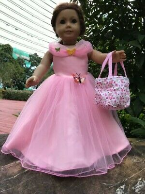 """Cinderella dress bag inspired by Disney's movie for American girl 18"""" Doll 2pc"""