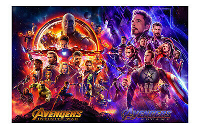 The Avengers End Game & Infinity Wars Movie Poster 11x17in / 28x43cm