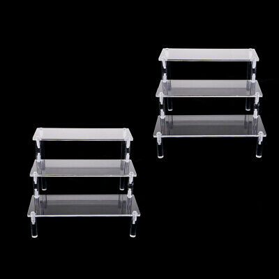 2pcs Combination 3-Tier Acrylic Display Shelf for Kitchen Pantry or Bathroom
