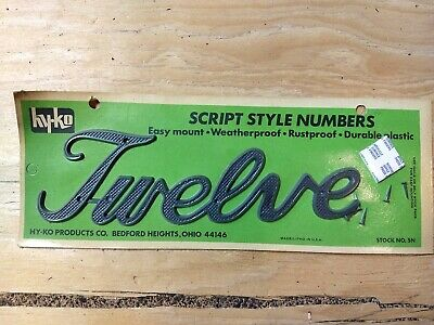 Vintage Mid Century Hy-Ko House Address Numbers Spell Out Fourteen 14