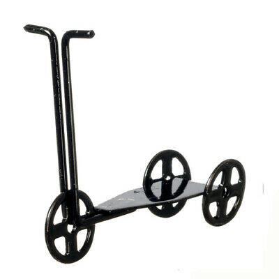 Black Metal Scooter, Dolls House Miniature, Kids Toy Miniature 1.12 Scale