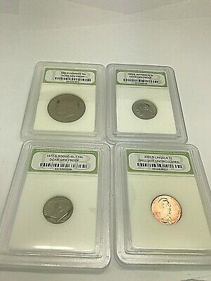 Lot of 4 Uncirculated & Proof Coins INB 2007D 1C 1977S 10C 1985S 50C 1992S 5C