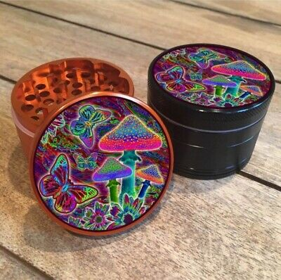 Psychedelic Butterfly Mushroom Forest Grinder