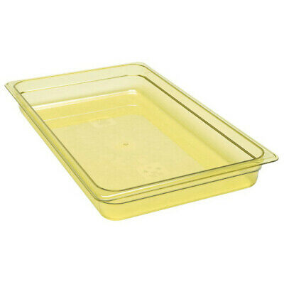 Cambro 12HP150 H-Pan Amber High Heat Full Size Food Pan (6 per case)