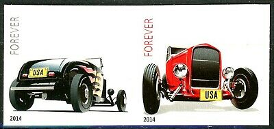 HOT RODS - IMPERFORATED Pair - No Die Cuts Mint Remounted Scott's 4908a & 4909a