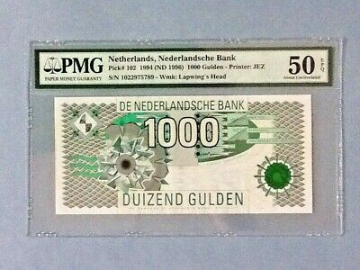 Netherlands P-102 - 1,000 Gulden; 1994; PMG Graded 50 EPQ