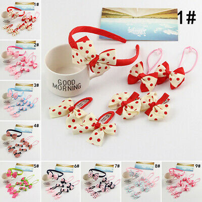 Toddler Hair accessories Hair band Headband Headwear Baby Infant 7 pcs Bow knot