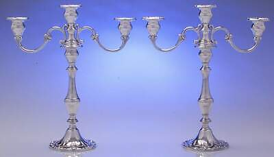 Gorham CHANTILLY-DUCHESS (STERLING) Pair Of Weighted 3 Light Candelabra 8998607