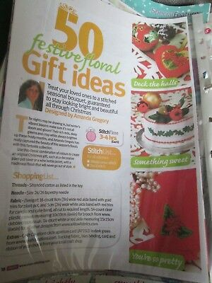 '50 Festive Floral Gift Ideas' Amanda Gregory cross stitch chart (only)