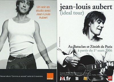 2 Cartes  publicitaires Chanteur  Jean Louis AUBERT  Cart'com  no INSUS