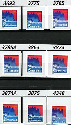 Seacoast NonProfit Org Rate Coils Complete Set 9 MNH See Listing for Scott #s