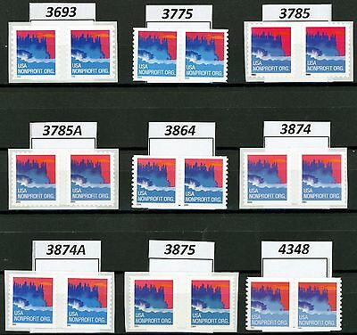 Seacoast NonProfit Org Rate Coil Pairs Complete Set 9 MNH Scott #s in Listing