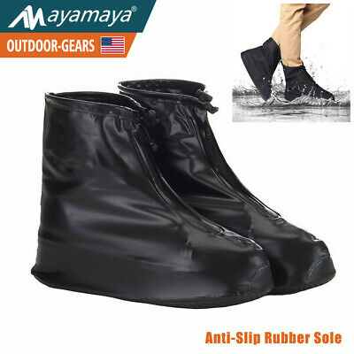 Reusable Waterproof Shoe Covers Rain Boots Anti-slip Shoes Cycling Overshoes US