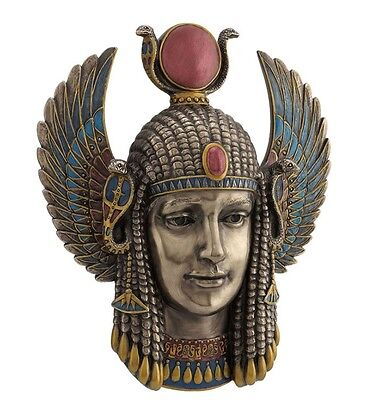 "9.75"" Egyptian Goddess Wall Plaque Sculpture Ancient Egypt Statue Figure"