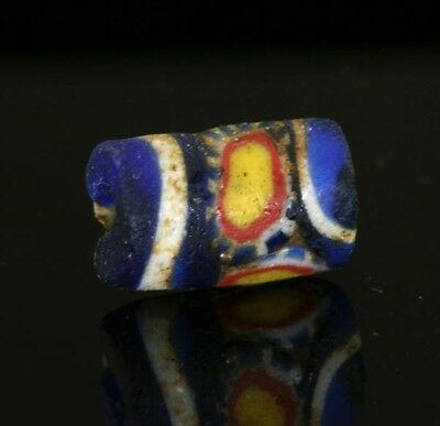 Ancient glass beads: rare Byzantine / Islamic / Viking mosaic glass bead