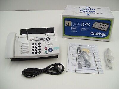 Brother Fax-878 Fax Machine Plain Paper Copier Phone Machines Office Work