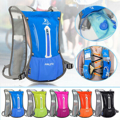 Sports Backpack Hydration Pack Cycling Running Sport Vest + 2L Water Bladder Bag