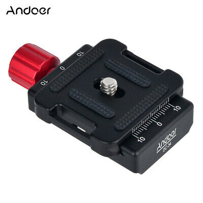 Andoer DC-34 Quick Release Plate Clamp Adapter with One Quick Release Plate W9B1