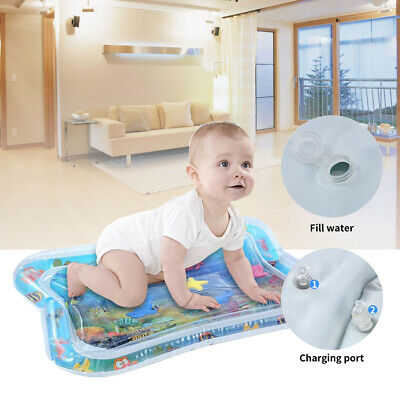 Baby Water Play Mat Inflatable For Infants Toddlers Fun Time Play Activity #T