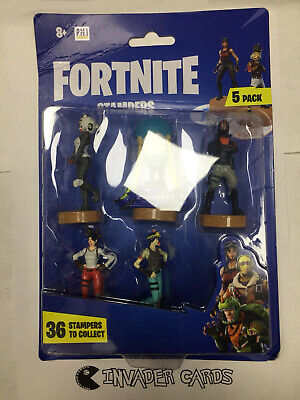 FORTNITE STAMPERS COLLECTIBLE Mini FiGure Epic Games 5 Pack New Boxed Sealed