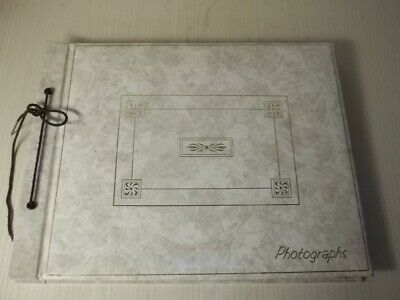 Vtg String Bound photograph album scrap Book MINT for Your Ephemera Keepsakes