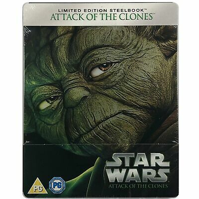 Star Wars Attack Of The Clones Steelbook - Limited Edition Blu-Ray *Region Free*