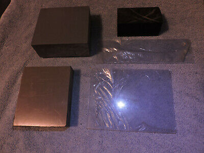 Lot of Plexiglas PLATE & Delrin Gray Grey BAR Machine Shop CNC Plastic Stock