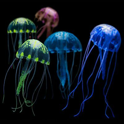 Artificial Aquarium Jellyfish Decoration with Glowing Effect Fish Tank Ornament
