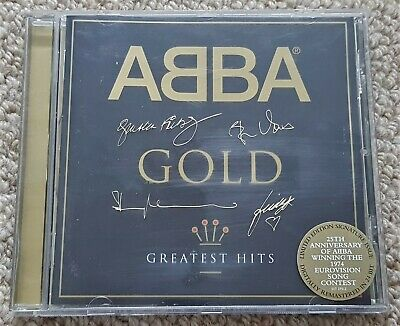 Abba - Gold Greatest Hits - Oz Compilation Cd - Rare Embossed Autographed Case