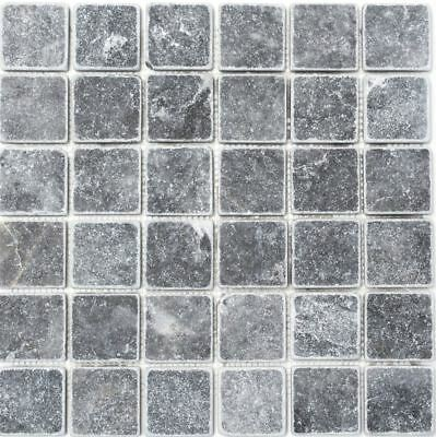 Mosaic Tile Marble Natural Stone Black Nero Antique floor 36-0404_b | 1 sheet