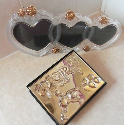 Baby shower gift, Baby Silver Photo Album, Heart-shaped Glass Photo frame