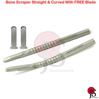 Bone Grafting Scraper Harvester Collector Straight Curved Dental Implantology