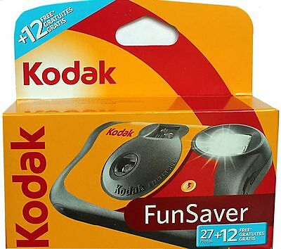 Pack Of 5 Kodak FUNFLASH - Disposable Camera with Flash 27+12  Exposures New