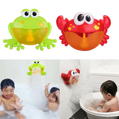 2pcs Frog & Crab Shape Music Bubble Maker Machine Blower Toy with Songs