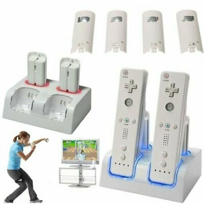 2/4x Rechargeable Battery Pack Controller Charger Dock Station for Nintendo Wii