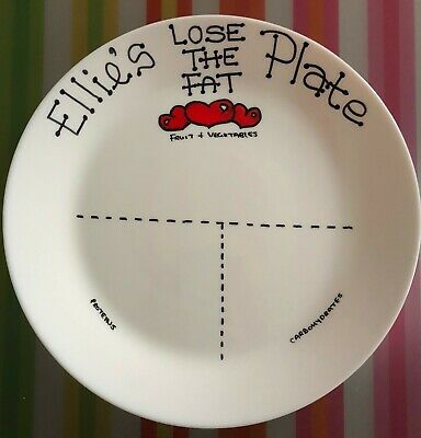 Personalised Lose The Fat Slimming Diet Portion Control Plate SW EE plate
