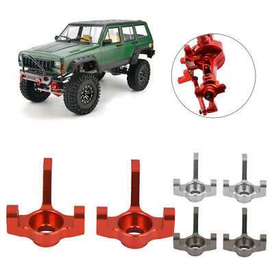 2x RC1:10 AX30496 Alloy Silver Upgrade Sets C-Hub+Steering Hub Carrier for AXIAL