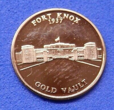 USA Gold Medallion World famous Fort Knox Gold Vault 0.5g .585 Fine 14ct Capsule