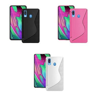 Case For Samsung Galaxy A40 2019 S-Line Silicone Gel Skin Shockproof Phone Cover