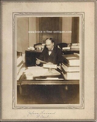 Rare Democratic Rep. Julius Thorson Antique Cabinet Photo Minnesota Politics
