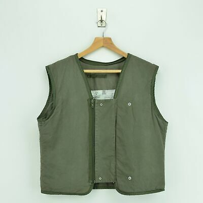 Vintage 90s MK4 Military Cold Weather Waistcoat Zip In Jacket Liner S Size 4