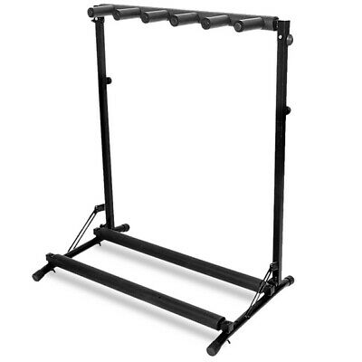 Gorilla GGS-5 Foldable 5-Way Multi Universal Guitar Stand Rack (Black)