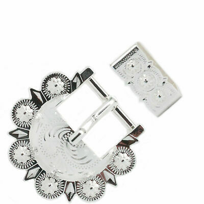 Calgary Berry Buckle Set Silver Plating 3/4 Inch 4507-02