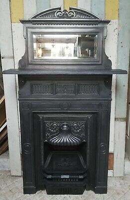 Carron Foundry Victorian Cast Iron Combination Fire With Built In Mirror Fc0049