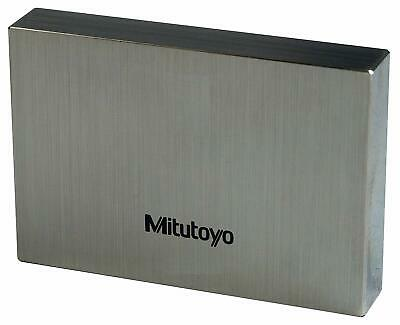 "Mitutoyo 611142-551 Steel Rectangular Gage Block, ASME Grade AS-2, 0.102"" Length"