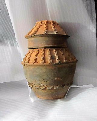 Antique Asian Chinese China TANG Dynasty Vase Tomb Granary Jar Burial 618-907 AD