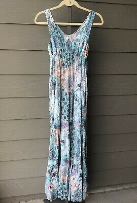 349053184a5 Kimchi Blue S Urban Outfitters Floral Sheer Boho Maxi Dress Festival blue  pink p