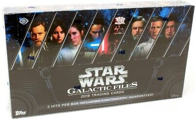 2018 Topps Star Wars Galactic Files Hobby Box Blowout Cards